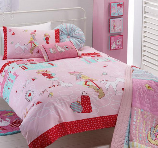 Jiggle and Giggle Born to Shop Single Bed Quilt Cover Set