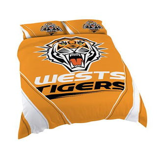 NRL Official Wests Tigers Supporter Quilt Cover Set