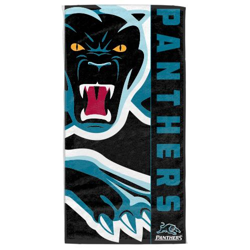 NRL Official Penrith Panthers Supporter Cotton Velour Beach Towel