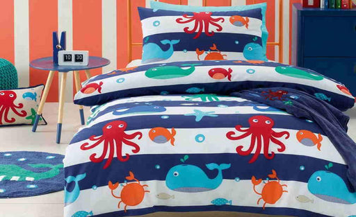 Jiggle & Giggle Sea Creatures Quilt Cover Set