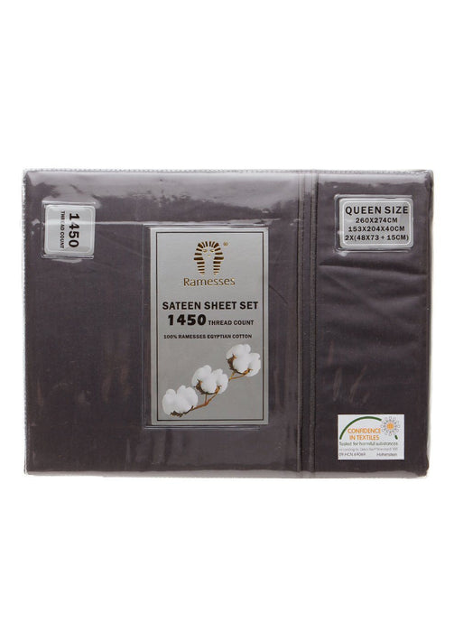 Ramesses 100% Egyptian Cotton Sateen 1450 TC Sheet Set