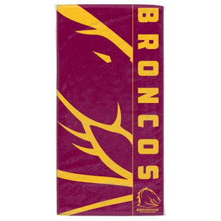 NRL Official Brisbane Broncos Supporter Cotton Velour Beach Towel