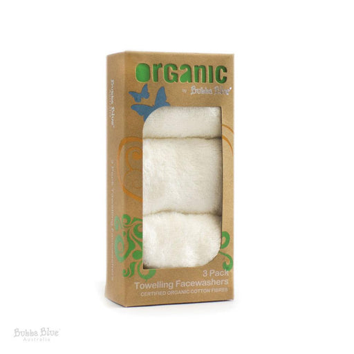 Bubba Blue Organic Feathers 3 Pack Face Washers