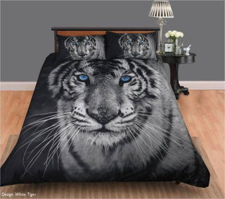 Georges Fine Linen White Tiger Quilt Cover Set or Accessories