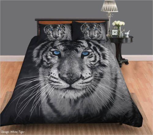 Georges Fine Linen White Tiger Quilt Cover Set