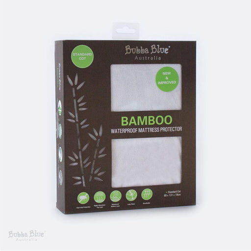 Bubba Blue Bamboo Waterproof Standard Cot Mattress Protector