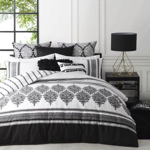 Logan & Mason Tangier Black Quilt Cover Set