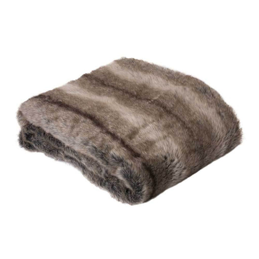 J.Elliot Faux Fur Doe Brown Throw Rug 125x150cm