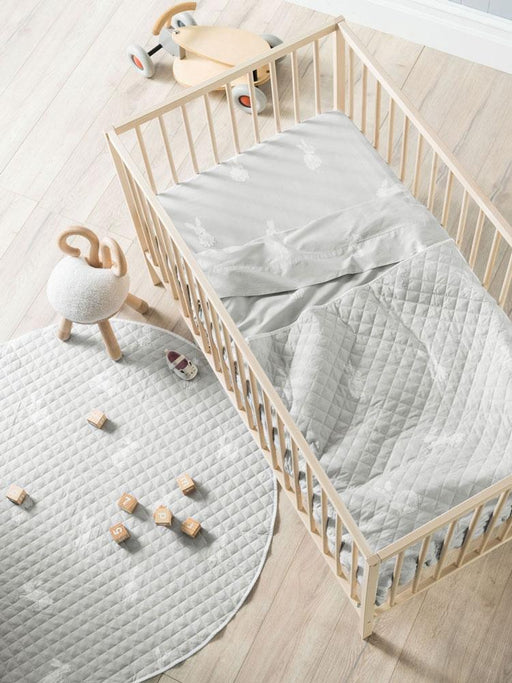 Hiccups Hippity Hop Grey Cot Coverlet