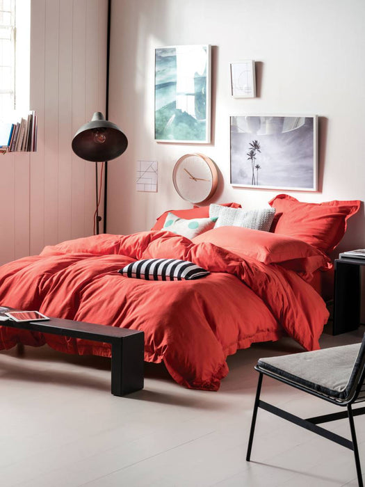 Linen House Elka Coral Quilt Cover Set