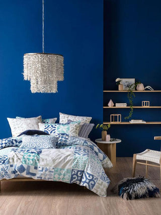 Linen House Kavala Indigo Quilt Cover Set or Accessories