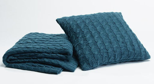 Season Edition Teal Chunky Knit Throw Rug
