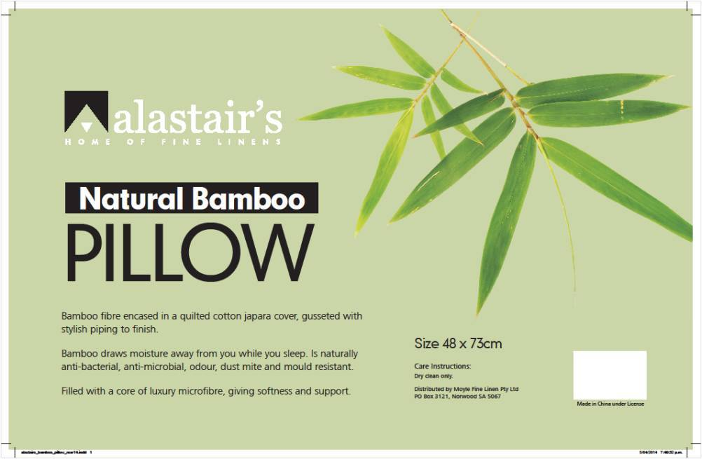 Alastairs Natural Bamboo Pillow