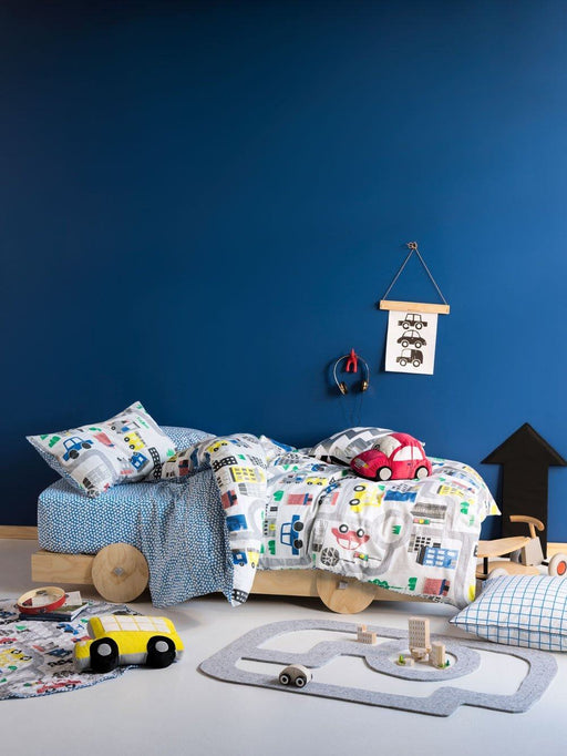 Hiccups Townies Blue Quilt Cover Set