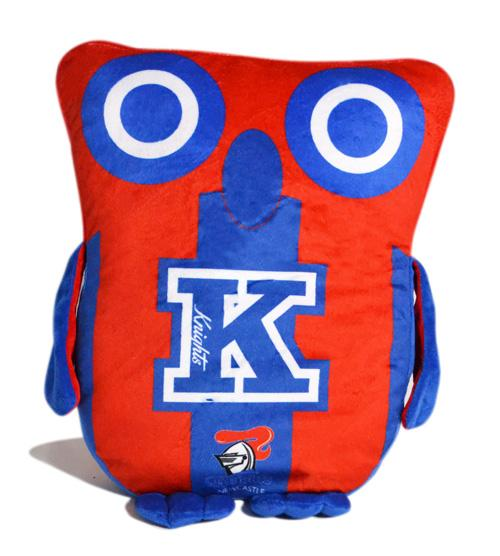 Official NRL Newcastle Knights Owl Shaped Cushion
