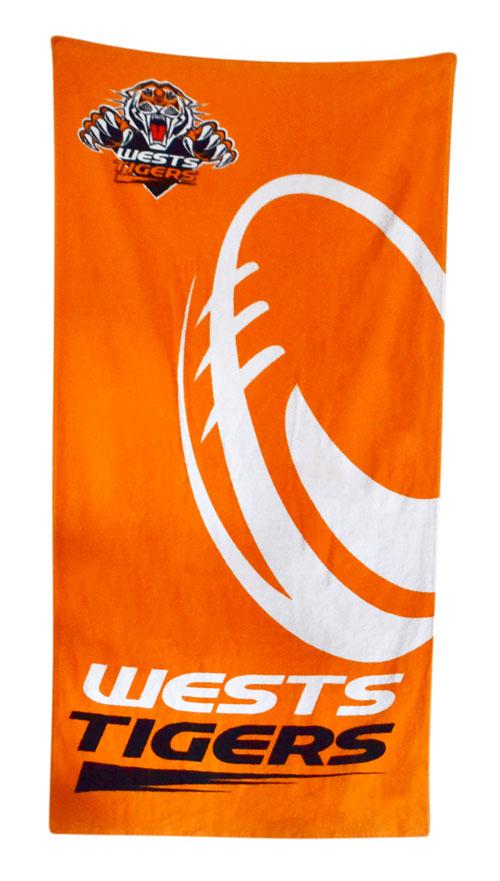 Official NRL Wests Tigers Beach Towel