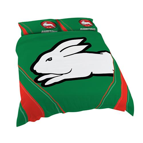 NRL Official South Sydney Rabbitohs Supporter Quilt Cover Set