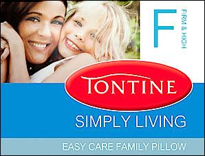 Tontine Simply Living Firm & High Pillow