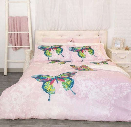 Retro Home Butterfly Quilt Cover Set