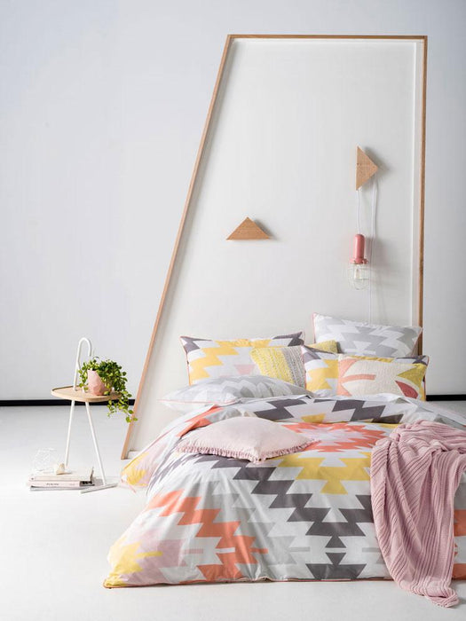 Linen House Kaya Melon Quilt Cover Set