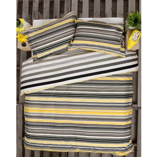 Ardor Fairhaven Charcoal Quilt Cover Set