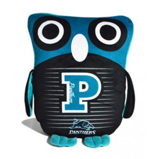 Official NRL Penrith Panthers Owl Shaped Cushion