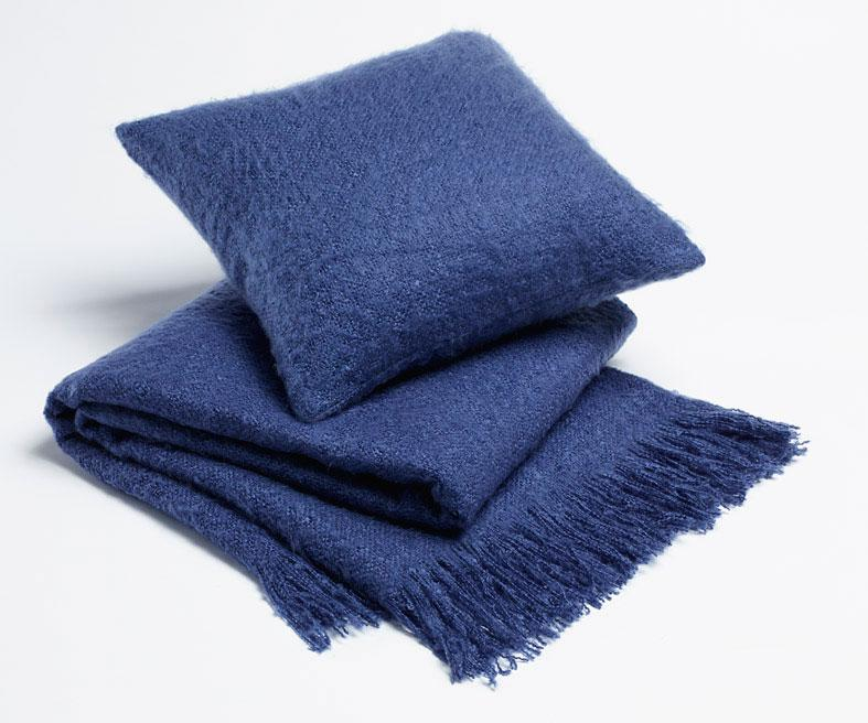 Season Edition Plain Cushion or Throw Rug - Bay Blue