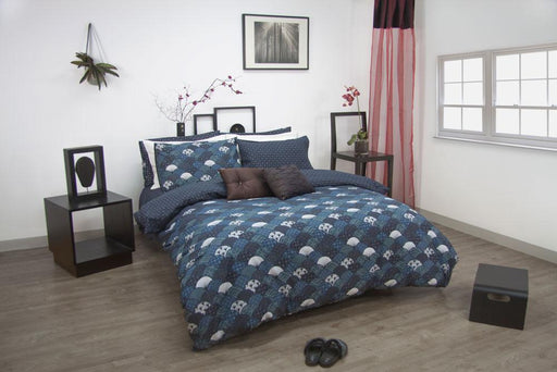 Apartmento Kasai Navy Quilt Cover Set
