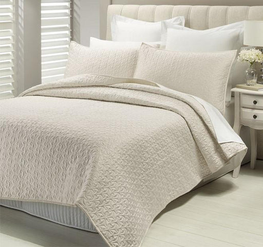 Lux Savoy Quilted Coverlet Set-Champagne