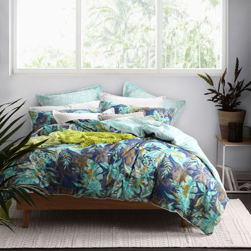 Logan & Mason Moana Teal Quilt Cover Set