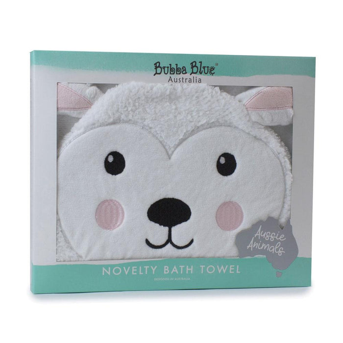 Bubba Blue Aussie Animals Sophie Sheep Novelty Hooded Towel