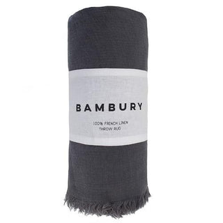 Bambury Everett Linen Throw Rug