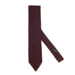 Silk Knit Tie Copper Brown