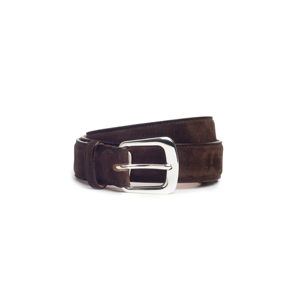 Suede  Leather Belt  Brown