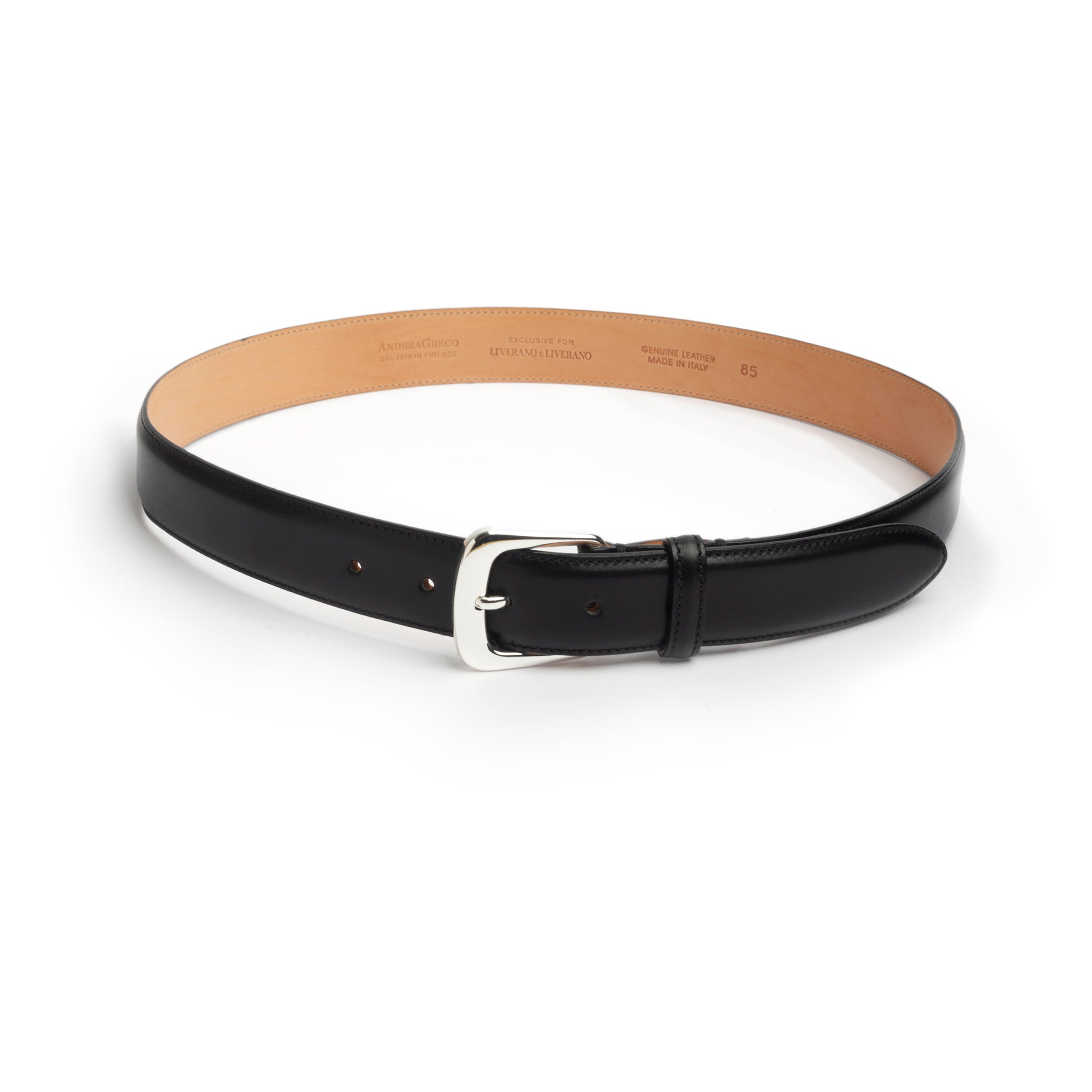 Leather Belt Ink Black
