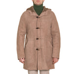 Sheepskin Duffle Coat Sand