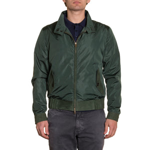 Windbreaker Suede and Nylon Green