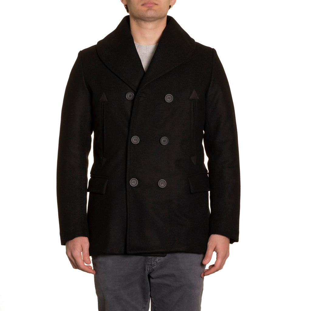 Caban Coat Navy Blue