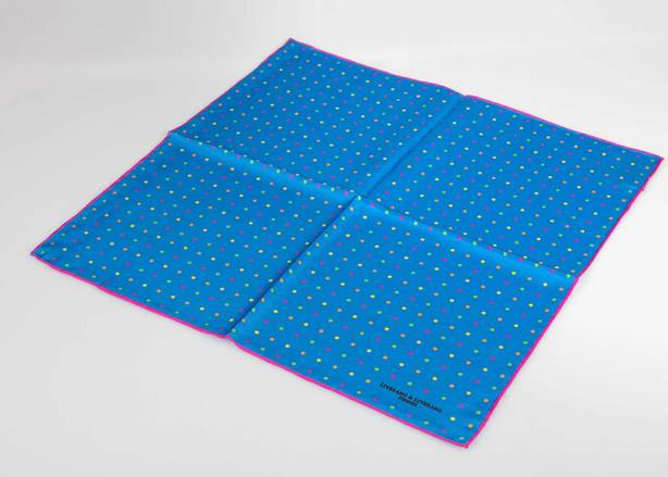 Blue & Purple Dot Pocket Square