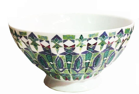 Set Of 4 Mosaic Bowls