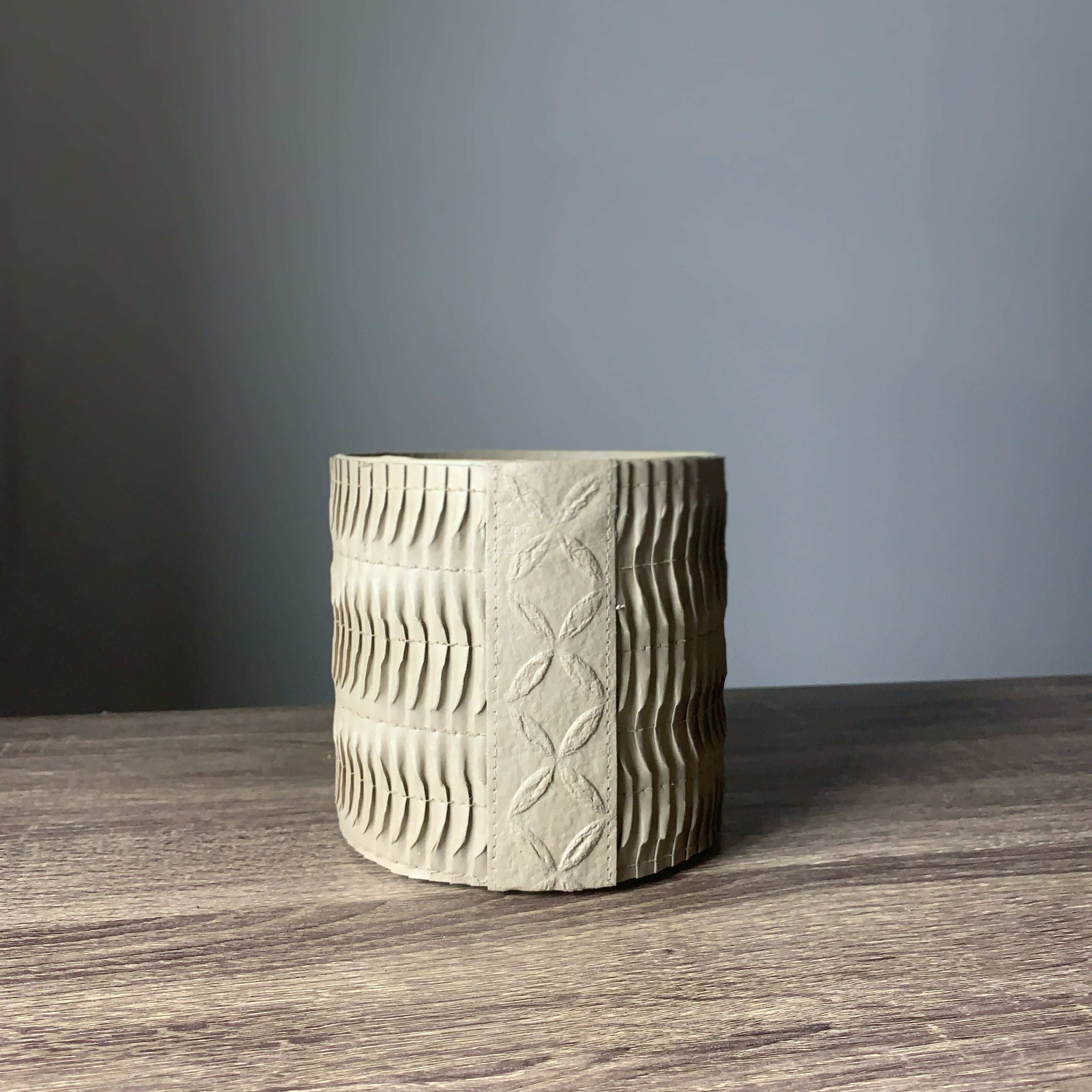 Stitched Paper Grow Cylinder