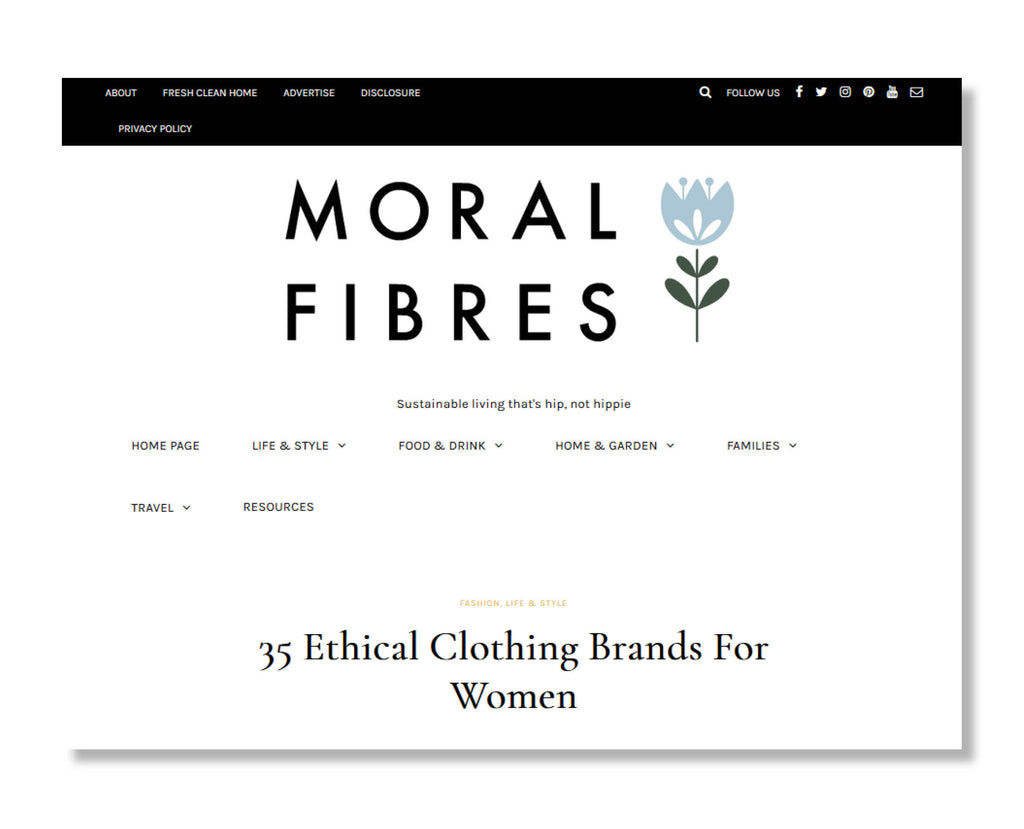 "Moral Fibres: ""35 Ethical Clothing Brands For Women"""