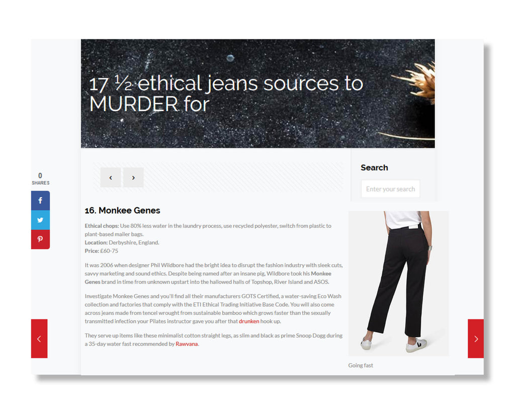 "Plant Based Savage: ""17 ½ ethical jeans sources to MURDER for"""