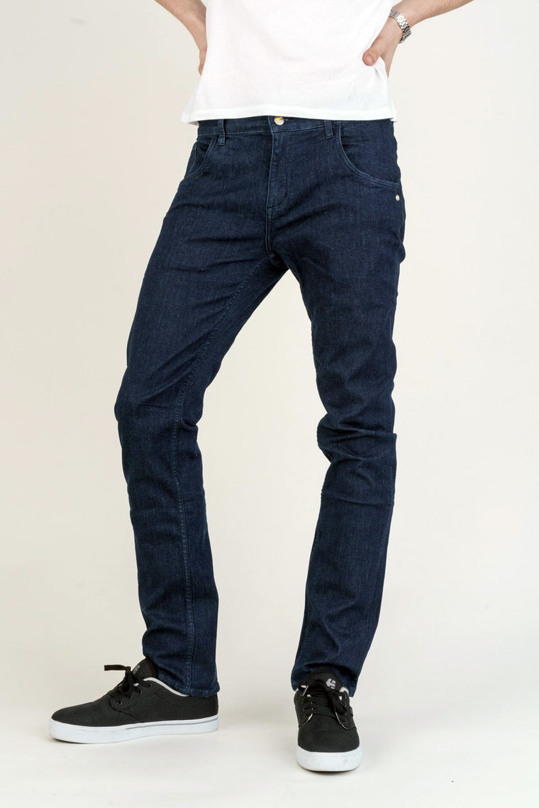 DEAN // Organic Flex Slim Fit Jeans in Rinse