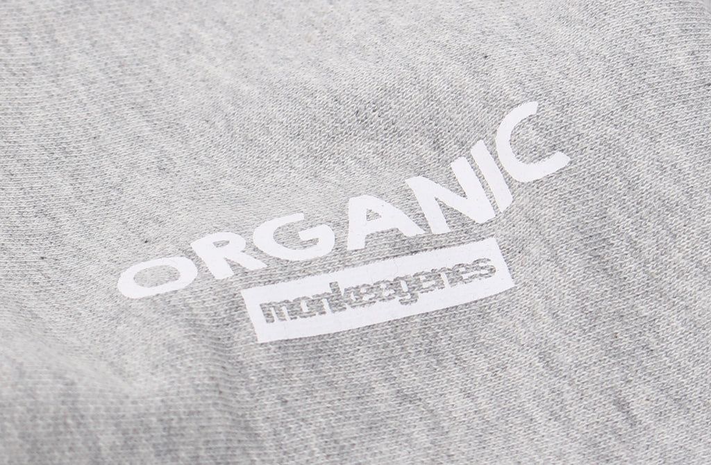 Men's Organic Cotton Crew Sweat in Grey Marl