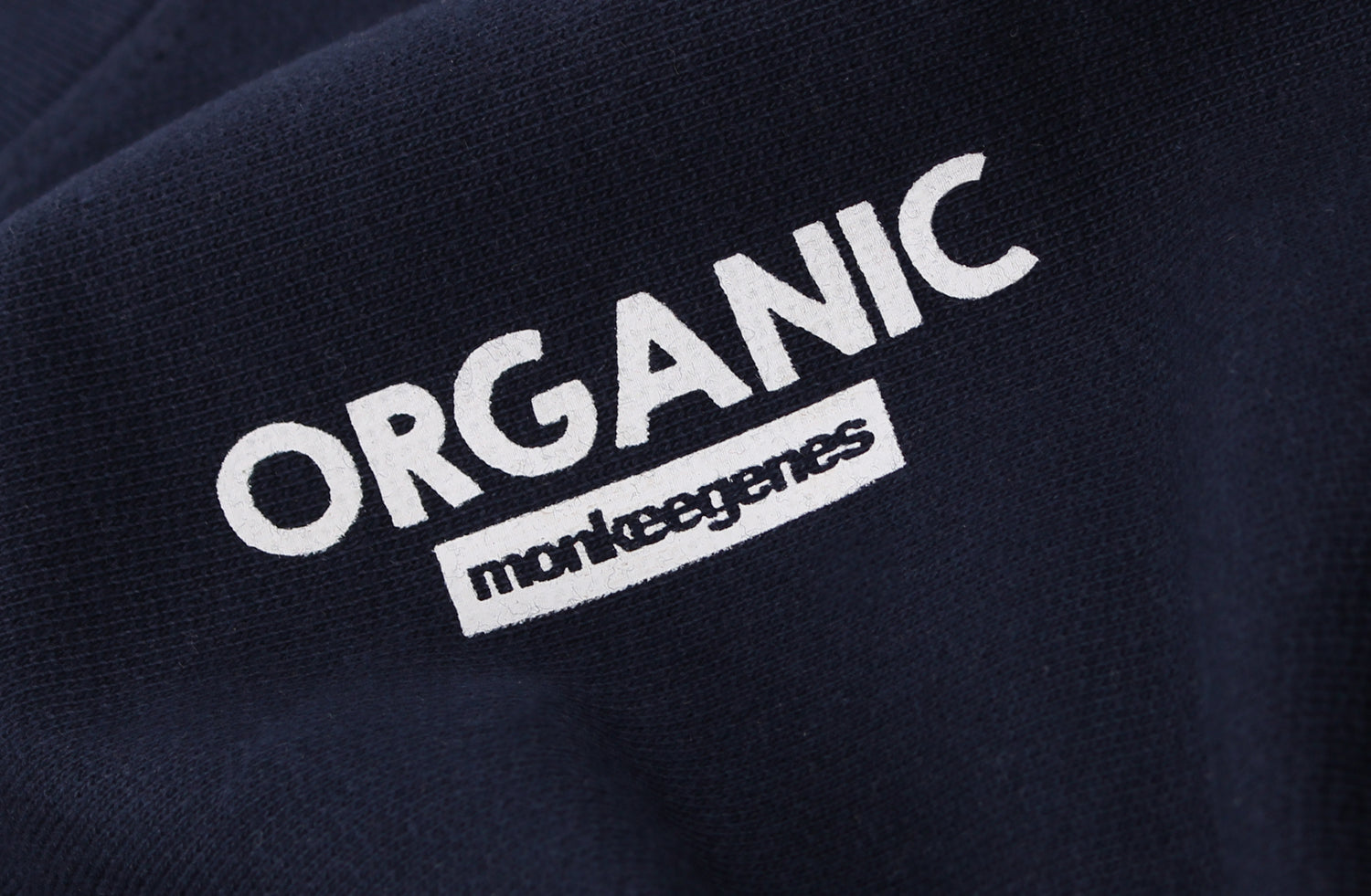 Men's Organic Cotton Crew Sweat in Navy - Monkee Genes Organic Jeans Denim - Men's Hoodies Monkee Genes Official  Monkee Genes Official