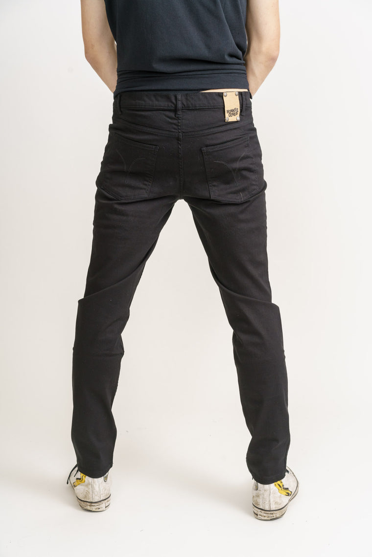 DEAN // Organic Slim Fit Jeans in Black Denim