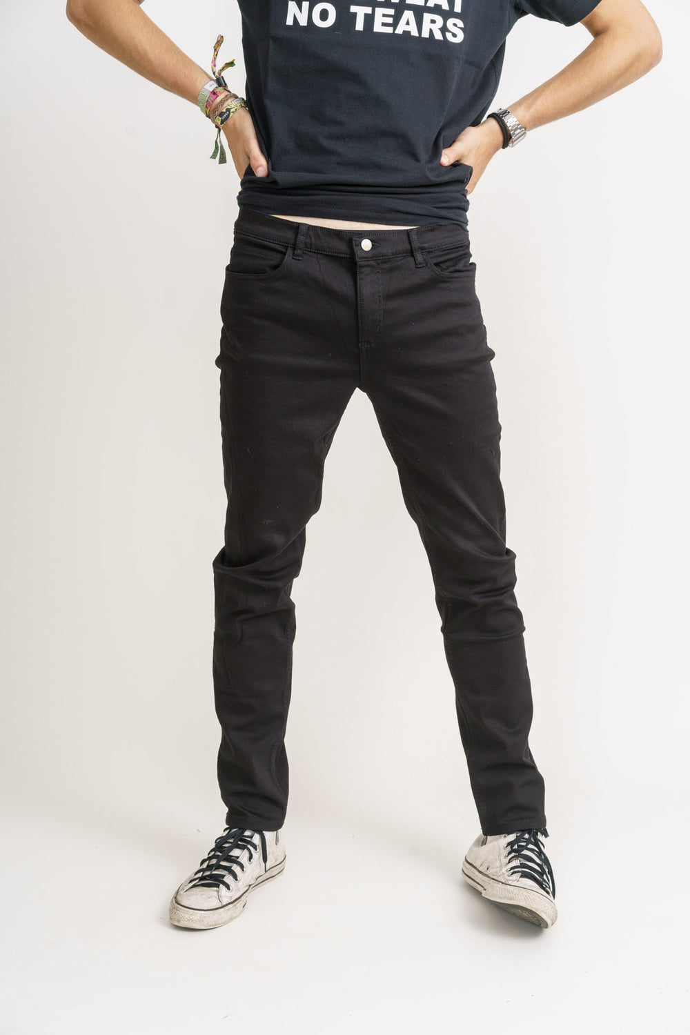 mens black denim slim fit jeans organic denim monkee genes