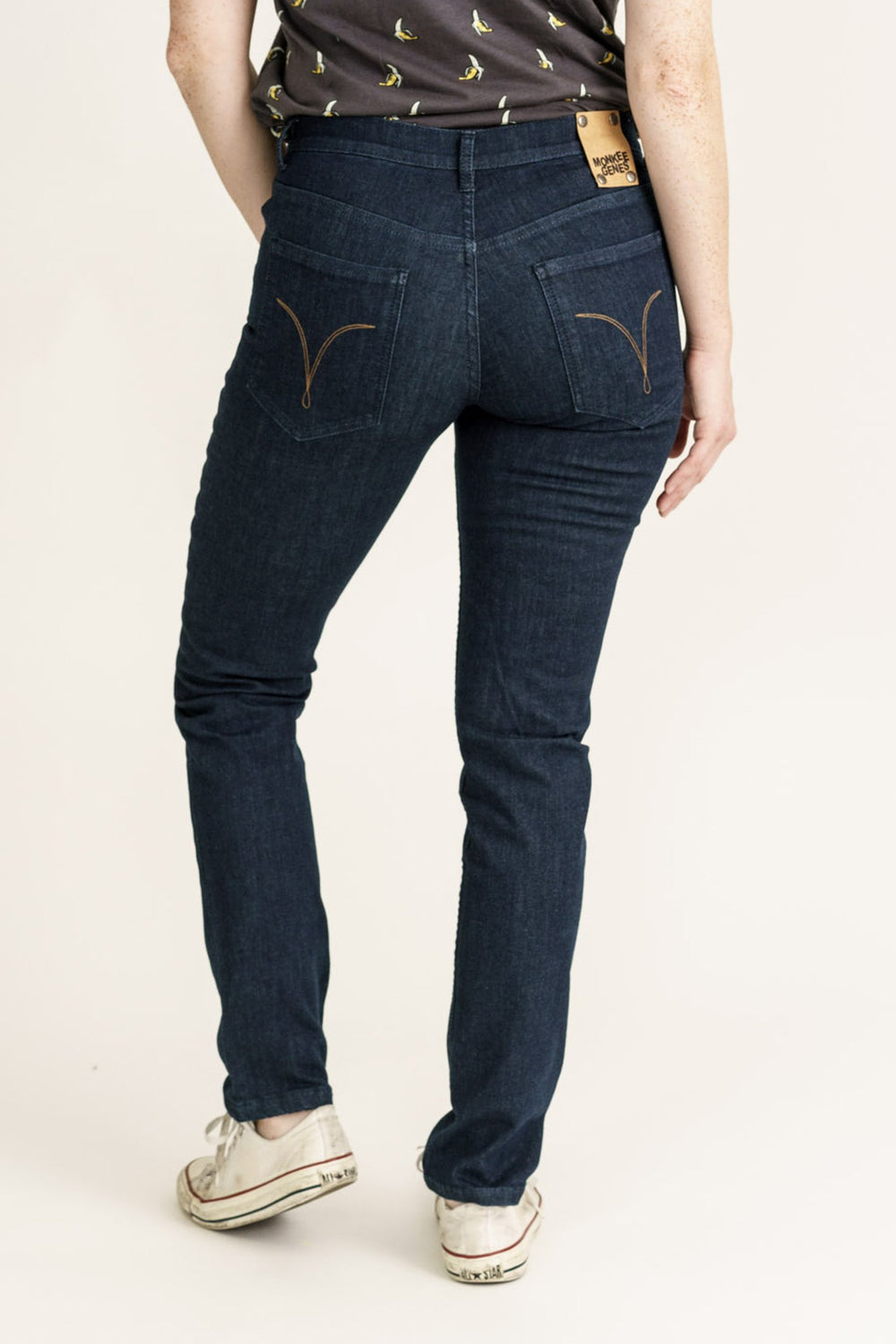 CLASSIC SKINNY // Organic Flex Classic Skinny Jeans in Blue Pilot Pure - Monkee Genes Organic Jeans Denim - Organic Flex Women's Jeans Monkee Genes Official  Monkee Genes Official