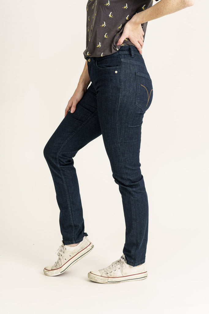Blue Pilot Pure Organic Flex Denim Classic Skinny Jeans - Monkee Genes Organic Jeans Denim - Organic Flex Women's Jeans Monkee Genes Official  Monkee Genes Official